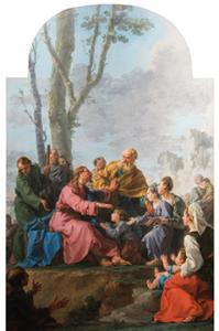 Noël Hallé - Le Christ et les enfants (1775)