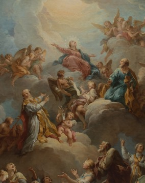 François Lemoine - La Vierge en gloire (1732)