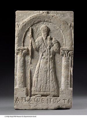 Stèle représentant Apa Shenoute