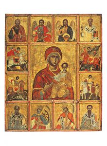 Vierge Hodigitria entourée de saints