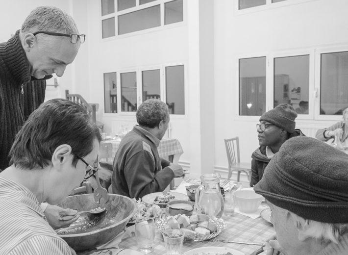 Repas solidaires de l'association Partage 19e