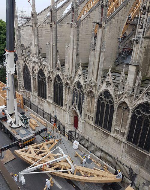 Travaux de sécurisation de Notre-Dame